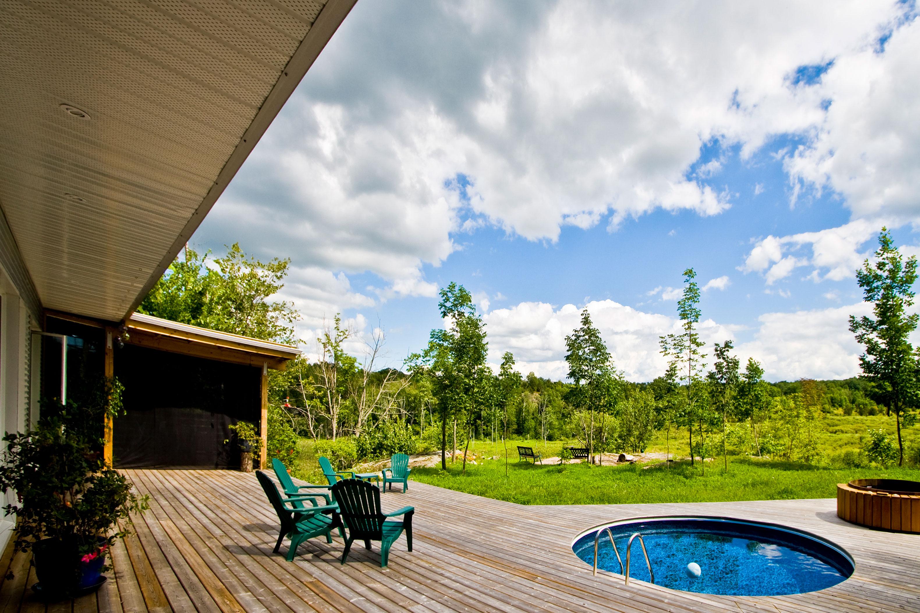 Gananoque Lake Road House Passive Solar House Design